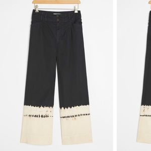 Anthropologie Fatima Dip-Dyed Wid-Leg Pants Size26